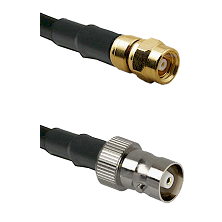 SMC Female on RG142 to C Female Cable Assembly