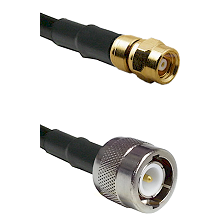 SMC Female on RG142 to C Male Cable Assembly