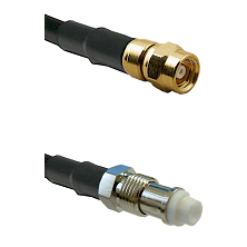 SMC Female on RG142 to FME Female Cable Assembly