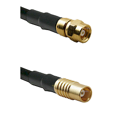 SMC Female on RG142 to MCX Female Cable Assembly