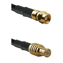 SMC Female on RG142 to MCX Male Cable Assembly