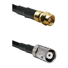 SMC Female on RG142 to MHV Female Cable Assembly