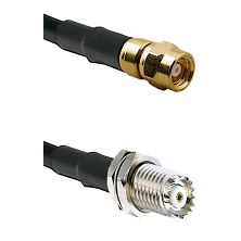 SMC Female on RG142 to Mini-UHF Female Cable Assembly