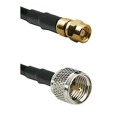SMC Female on RG142 to Mini-UHF Male Cable Assembly