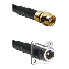 SMC Female on RG142 to N 4 Hole Female Cable Assembly