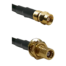SMC Female Plug To SMC Male Bulkhead Jack Connectors RG179 75 Ohm Cable Assembly