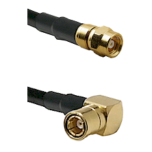 SMC Female on RG188 to SMB Right Angle Female Cable Assembly