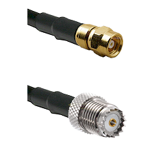 SMC Female on RG400 to Mini-UHF Female Cable Assembly