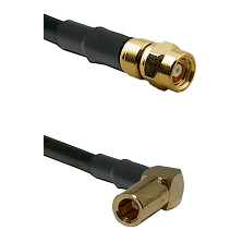 SMC Female on RG400 to SLB Right Angle Female Cable Assembly