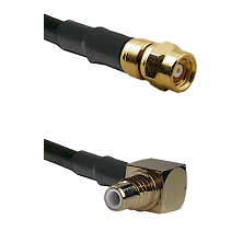 SMC Female on RG400 to SMC Right Angle Male Cable Assembly