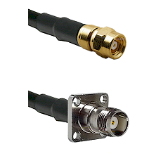 SMC Female on RG400 to TNC 4 Hole Female Cable Assembly