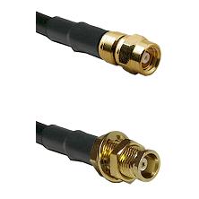 SMC Female on RG58C/U to MCX Female Bulkhead Cable Assembly