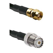 SMC Female on RG58 to Mini-UHF Female Cable Assembly