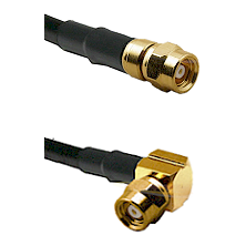 SMC Male on RG58C/U to SMC Right Angle Female Cable Assembly