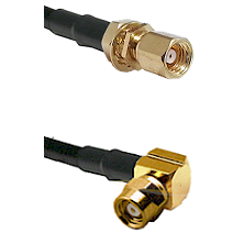 SMC Female Bulkhead on Belden 83242 RG142 to SMC Right Angle Female Cable Assembly