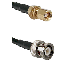 SMC Female Bulkhead on LMR100 to BNC Male Cable Assembly