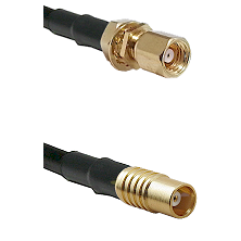 SMC Female Bulkhead on LMR100 to MCX Female Cable Assembly