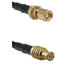 SMC Female Bulkhead on LMR100 to MCX Male Cable Assembly