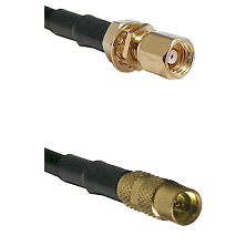 SMC Female Bulkhead on LMR100 to MMCX Female Cable Assembly