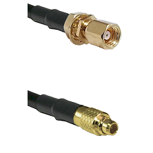 SMC Female Bulkhead on LMR100 to MMCX Male Cable Assembly