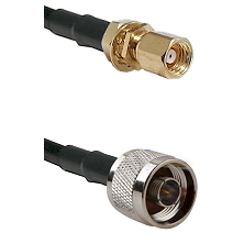 SMC Female Bulkhead on LMR100 to N Male Cable Assembly