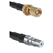 SMC Female Bulkhead on LMR-195-UF UltraFlex to QMA Female Cable Assembly