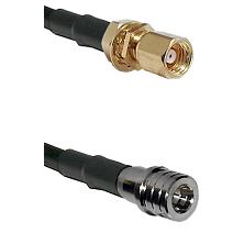 SMC Female Bulkhead on LMR-195-UF UltraFlex to QMA Male Cable Assembly