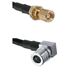 SMC Female Bulkhead on LMR-195-UF UltraFlex to QMA Right Angle Male Cable Assembly