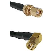 SMC Female Bulkhead on LMR-195-UF UltraFlex to SMA Right Angle Male Cable Assembly