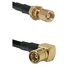 SMC Female Bulkhead on LMR-195-UF UltraFlex to SMB Right Angle Female Cable Assembly