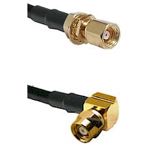SMC Female Bulkhead on LMR-195-UF UltraFlex to SMC Right Angle Female Cable Assembly