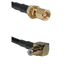 SMC Female Bulkhead on LMR-195-UF UltraFlex to SMC Right Angle Male Cable Assembly