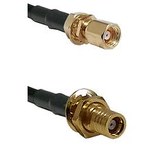 SMC Female Bulkhead on LMR-195-UF UltraFlex to SMB Female Bulkhead Cable Assembly
