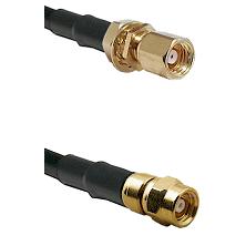 SMC Female Bulkhead on LMR-195-UF UltraFlex to SMC Male Cable Assembly