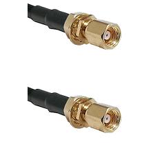 SMC Female Bulkhead on LMR-195-UF UltraFlex to SMC Female Bulkhead Cable Assembly