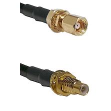 SMC Female Bulkhead on LMR-195-UF UltraFlex to SMC Male Bulkhead Cable Assembly