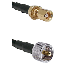 SMC Female Bulkhead on LMR-195-UF UltraFlex to UHF Male Cable Assembly