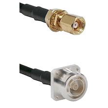 SMC Female Bulkhead on LMR200 UltraFlex to 7/16 4 Hole Female Cable Assembly