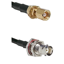 SMC Female Bulkhead on LMR200 UltraFlex to BNC Female Bulkhead Cable Assembly