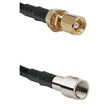 SMC Female Bulkhead on LMR200 UltraFlex to FME Male Cable Assembly