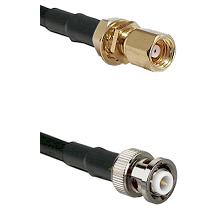 SMC Female Bulkhead on LMR200 UltraFlex to MHV Male Cable Assembly