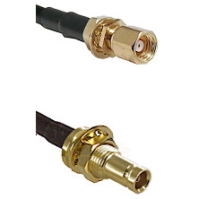 SMC Female Bulkhead on RG142 to 10/23 Female Bulkhead Cable Assembly