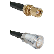 SMC Female Bulkhead on RG142 to 7/16 Din Female Cable Assembly