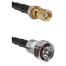 SMC Female Bulkhead on RG142 to 7/16 Din Male Cable Assembly