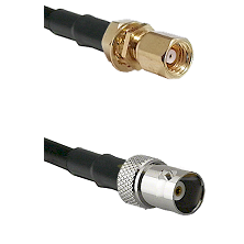 SMC Female Bulkhead on RG142 to BNC Female Cable Assembly