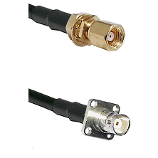 SMC Female Bulkhead on RG142 to BNC 4 Hole Female Cable Assembly
