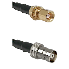 SMC Female Bulkhead on RG142 to C Female Cable Assembly