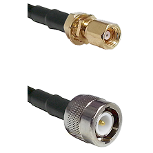 SMC Female Bulkhead on RG142 to C Male Cable Assembly