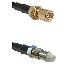 SMC Female Bulkhead on RG400 to FME Female Cable Assembly