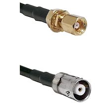 SMC Female Bulkhead on RG400 to MHV Female Cable Assembly